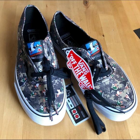 1d0342a1b501e4 🦆💕Vans x Nintendo Duck Hunt Camo Shoes 🐶